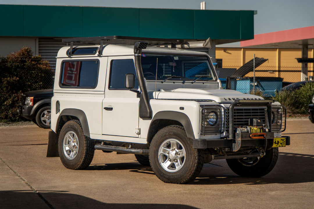 Land Rover at 4WD Industires workshop with modifications