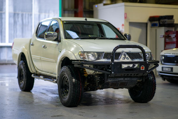 Toyota 4WD in the 4WD service centre showroom