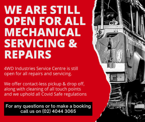 4WD Industries is still operating by providing mechanical services and repairs while following Covid Safe Regulations